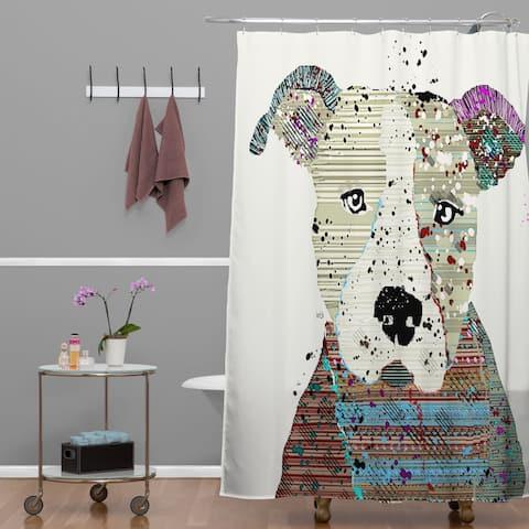 Brian Buckley Pit Bull Graffiti Shower Curtain