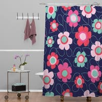 Ali Benyon Happy Flowers Shower Curtain