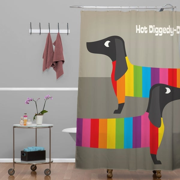 Anderson Design Group Rainbow Dogs Shower Curtain