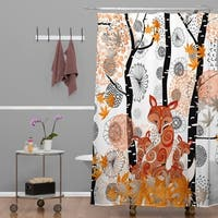 Monika Strigel Hello Foxy Shower Curtain