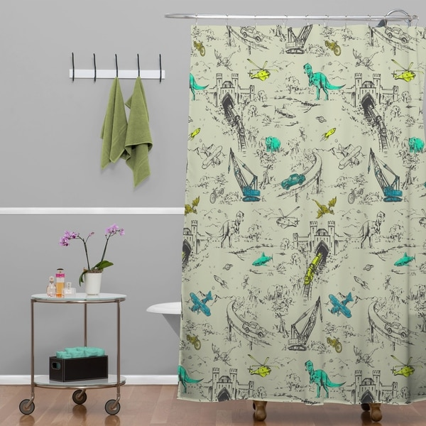 Pattern State Adventure Toile Shower Curtain
