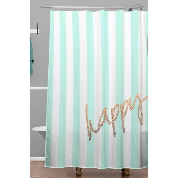 Monika Strigel Pretty Happy Mint Shower Curtain