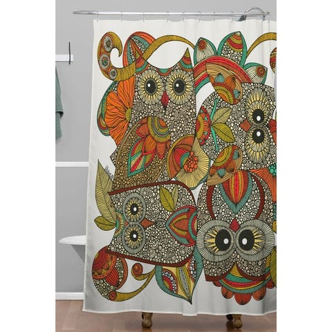 Valentina Ramos 4 Owls Shower Curtain