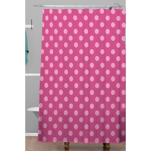 Leah Flores Bubblegum Shower Curtain