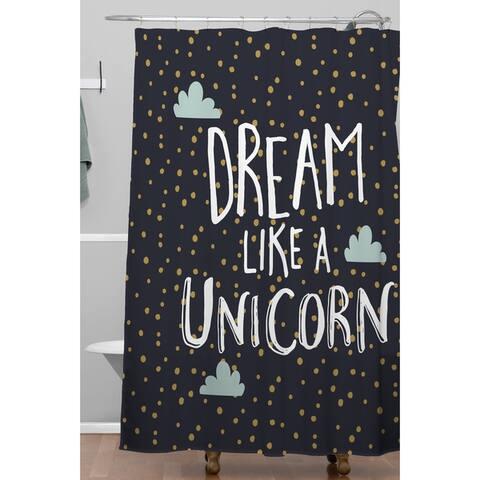 Zoe Wodarz Dream like a Unicorn Shower Curtain