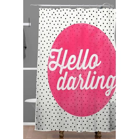 Allyson Johnson Hello Darling Dots Shower Curtain