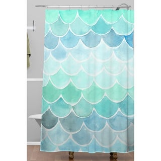 Wonder Forest Mermaid Scales Shower Curtain