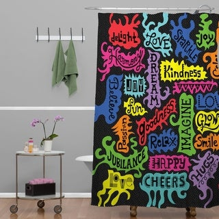 Andi Bird Its All Good Black Shower Curtain (2 options available)