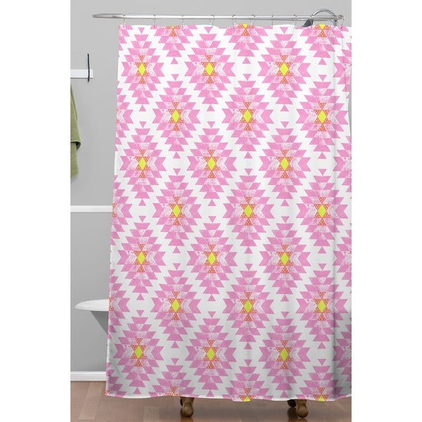 Dash And Ash Chelsea Coral Shower Curtain