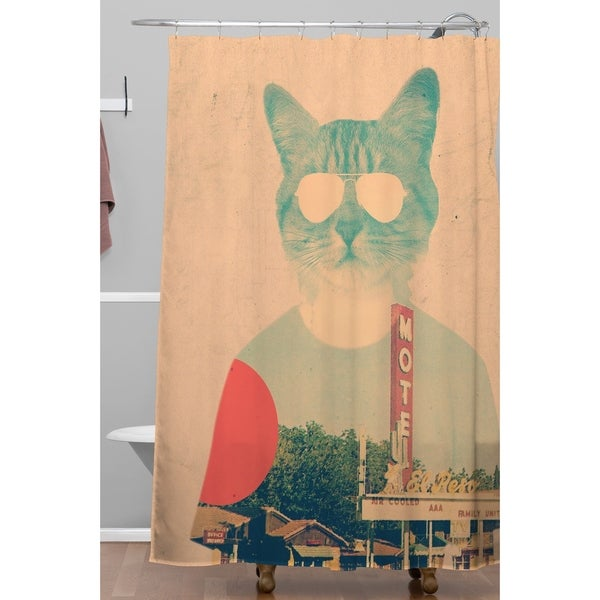Shop Ali Gulec Cool Cat Shower Curtain - On Sale - Free Shipping ...