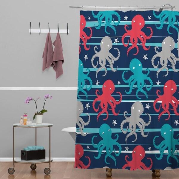 Zoe Wodarz Octopus Under The Sea Shower Curtain