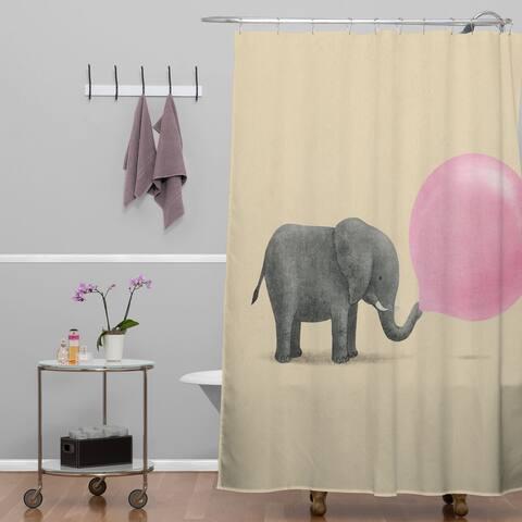 Terry Fan Jumbo Bubble Gum Shower Curtain