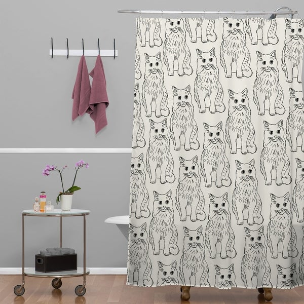 Allyson Johnson Cat Obsession Shower Curtain