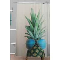 Chelsea Victoria Pineapple In Paradise Shower Curtain