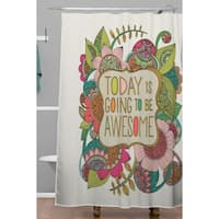 Valentina Ramos Today Is Going To Be Awesome Shower Curtain