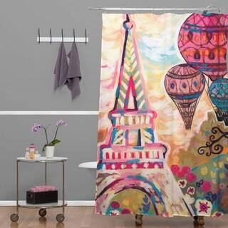 Natasha Wescoat Balloons Sur Paris Shower Curtain
