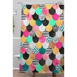 Elisabeth Fredriksson Colorful Mermaid Shower Curtain