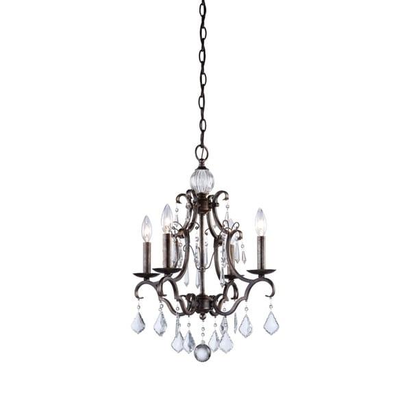 Artcraft Lighting Vintage-style Glass/Metal 4-light Chandelier