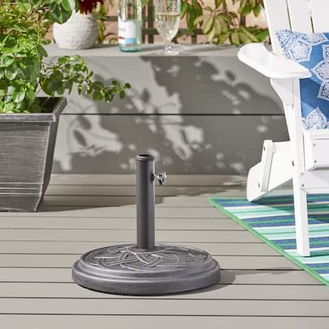 Kian Outdoor 33-pound Concrete Circular Umbrella Base by Christopher Knight Home