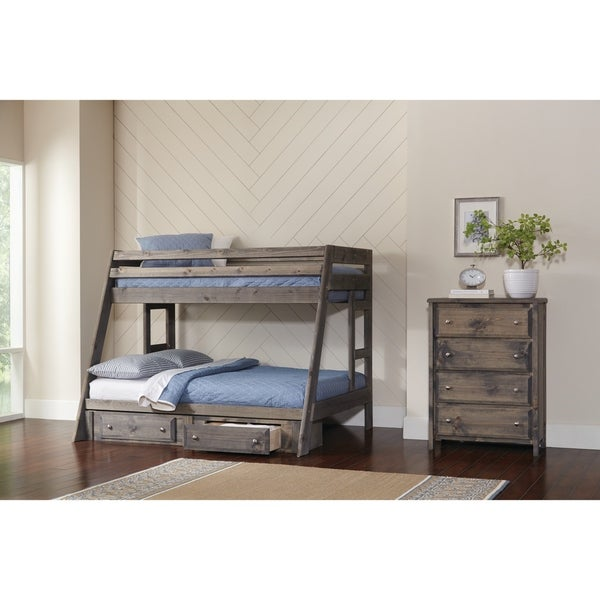Shop Wrangle Hill Twin Over Full Bunk Bed On Sale Free Shipping