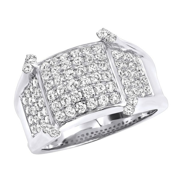 d62a11c0ca65b Shop Unique Diamond Pinky Rings Mens Diamond Band in 14k Gold 1.75 ...