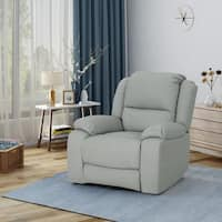Malic Classic Tufted PU Faux Leather Swivel Recliner by Christopher Knight Home