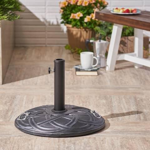 North Outdoor 55-pound Concrete Circular Umbrella Base by Christopher Knight Home