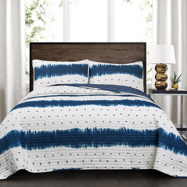 Lush Decor Jane Shibori 3 Piece Quilt Set. Opens flyout.