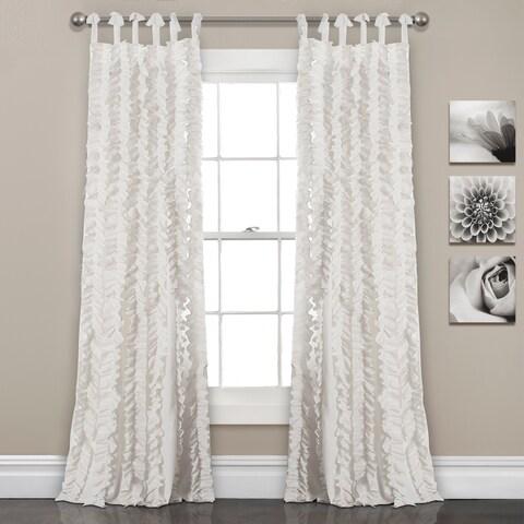 Lush Decor Sophia Ruffle Window Curtain Panel Pair - 40x84