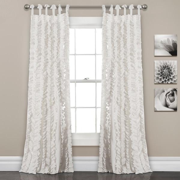 "Lush Decor Sophia Ruffle Window Curtain Panel Pair - 40""w x 84""l"