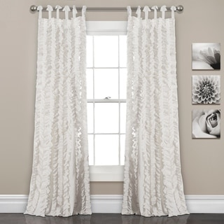 "Lush Decor Sophia Ruffle Window Curtain Panel Pair - 40""w x 84""l"