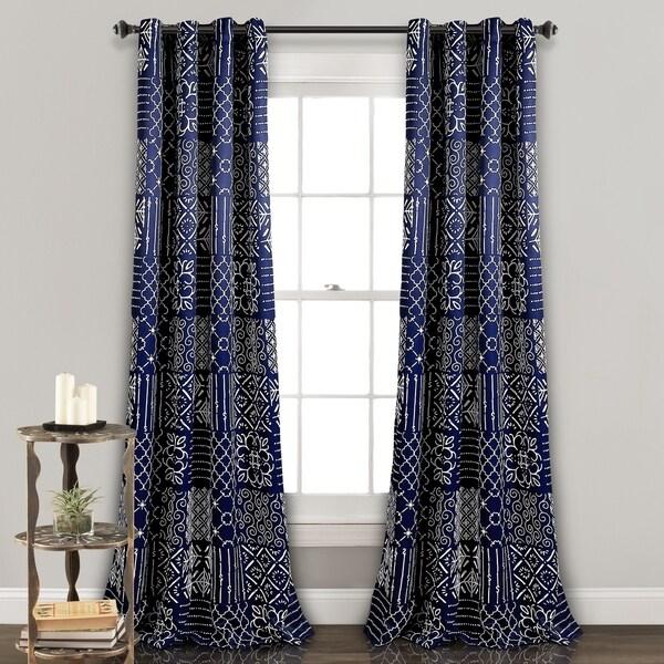 "The Curated Nomad Sandia Room Darkening Window Curtain Panel Pair - 52""W x 84""L"