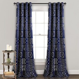 Lush Decor Monique Room Darkening Window Curtain Panel Pair - 52x84