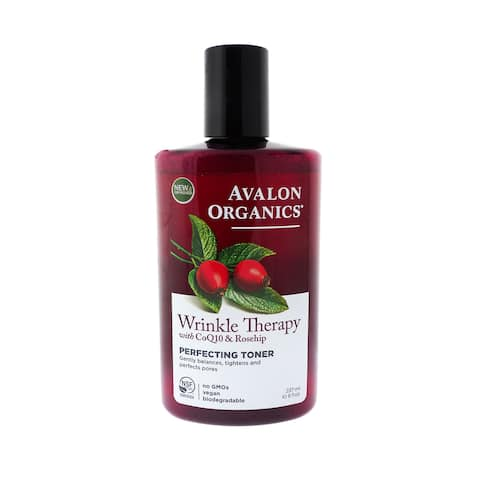 Avalon Organics Wrinkle Therapy with CoQ10 8-ounce Perfecting Toner