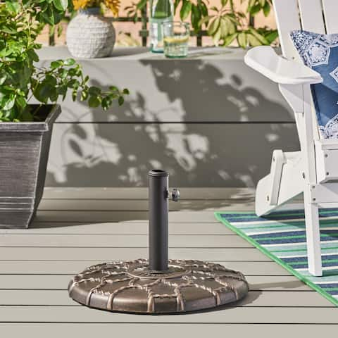 Toby Outdoor 37-pound Concrete Circular Umbrella Base by Christopher Knight Home