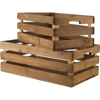 Mercana Gemini (Set of 2) Wooden Decorative Boxes (Set of 2)