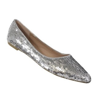 YOKI-URBAN-378 women's sequin flat sandal