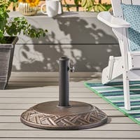 Glen Outdoor 55-pound Concrete Circular Umbrella Base by Christopher Knight Home