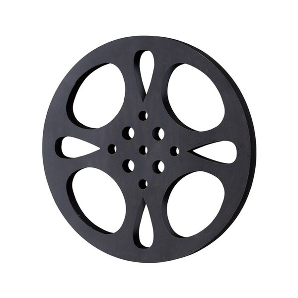 Carbon Loft Kellogg Black-grey Metal Movie Reel. Opens flyout.