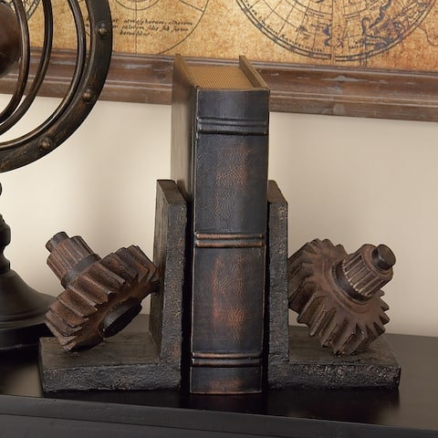 Carbon Loft Kellogg Rusted Gear Themed Book End (Set of 2)