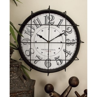 Carbon Loft Kellogg Antique Themed Round Metal Wall Clock