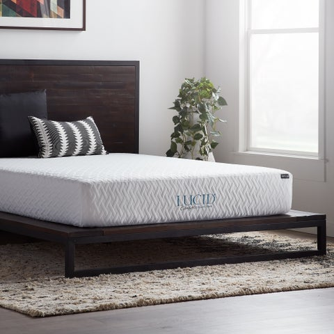 LUCID Comfort Collection 10-inch Queen-size Gel Memory Foam Mattress