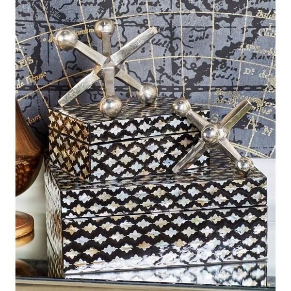Carbon Loft Kellogg Aluminum Jacks Sculpture (Set of 2)