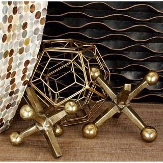 Carbon Loft Kellogg Gold Jacks Sculpture (Set of 2)