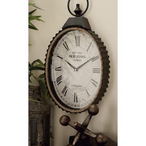 The Gray Barn Metal Rope Wall Clock