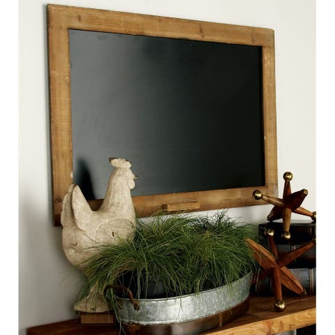 The Gray Barn Orchard Acre Rustic Walnut Finish Blackboard with Chalk Holder