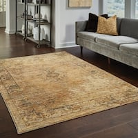 "Carbon Loft Upjohn Faded Classic Gold/ Brown Rug - 8'6 x 11'7 - 8'6"" x 11'7"""