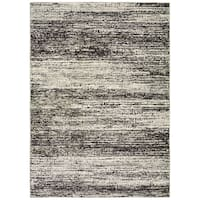 "Carbon Loft Marcus Textural Stripes Ash and Charcoal Area Rug - 8'6"" x 11'7"""