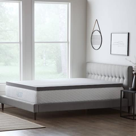 StayFresh Bamboo Charcoal Memory Foam Mattress Topper by LUCID® Comfort Collection