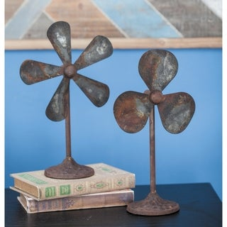 Carbon Loft Spangler Metal Decor Fan Set of 2, 10 inches wide, 15 inches high